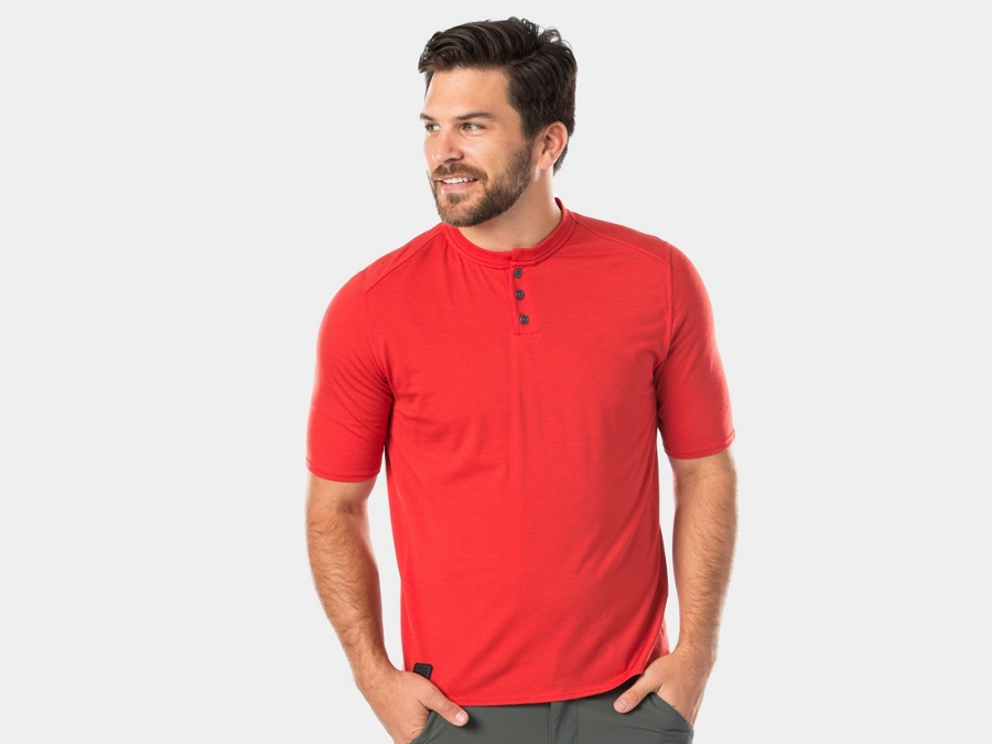 Bontrager Shirt Adventure Henley X-Small Mars Red